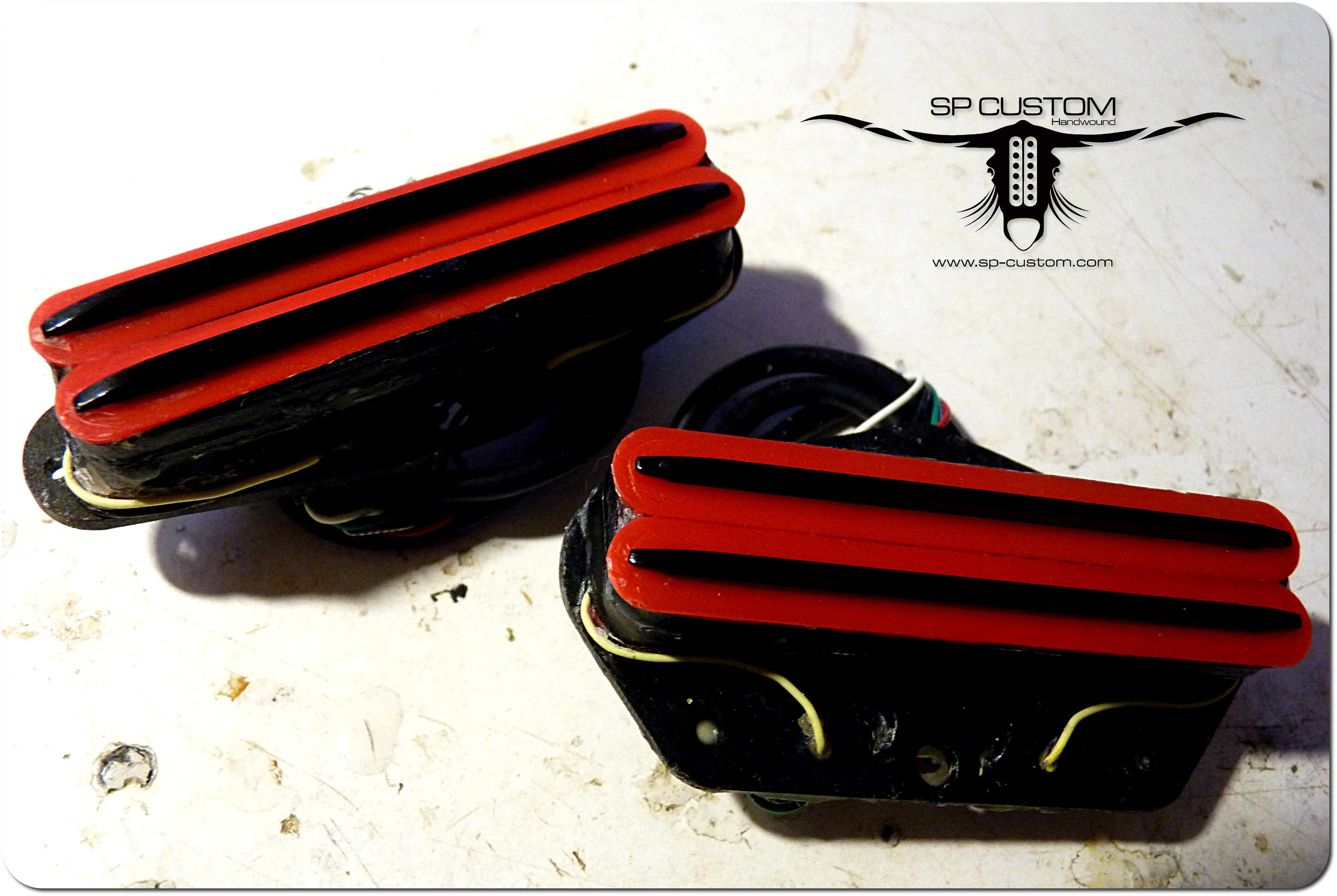 set.telecaster.HB.little.crusher.khobolt.rouge.rails.noirs